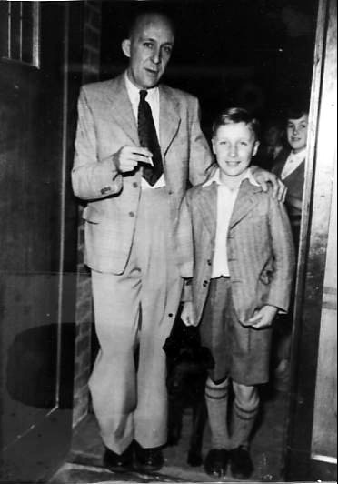 Chris and his Dad standing in the doorway of the Woodman Public House This is where I was able to get the autograph of Freddie Mills, the boxer
