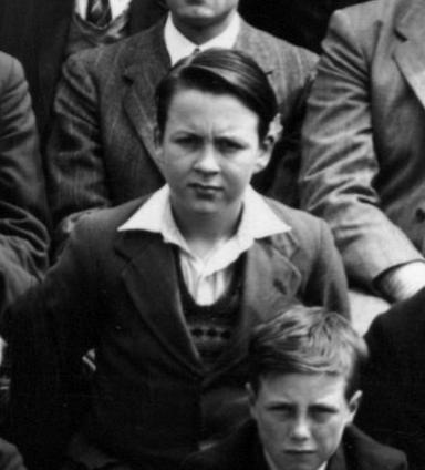 Dad at Bloomfield Road School, 1949