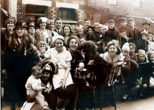 Durham Road Coronation Street Party (1937) The Photographer was taken by S. PAINE. of 2a Brewery Road, Plumstead.