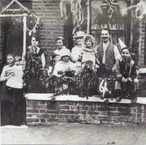 Neve family outside Bath Road, Plumstead celebrating the 1918 Armistice
