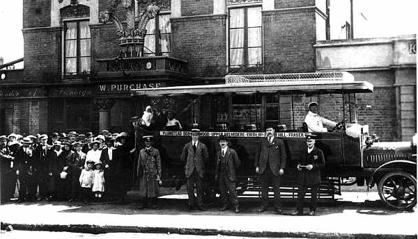 Plumstead 1916 - First day of LGOC Route                           111 at the The Plume of Feathers. Pholo:                           Jennifer Mellor