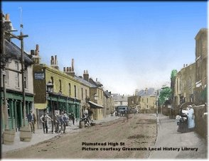 Plumstead High Street, 1882 Photo:                             Greenwich Local History Library via John                             Boon