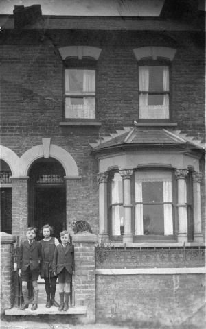 St. John's Terrace, Plumstead, with                             Stan, Grace and Fred Smith taken in 1923.                             Lily Smith married Stan on the left of the                             picture, they were sister and brothers.                             Photo:John Miles