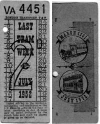 the very last tram tickets. Kindly donated by Alan Gibbs.