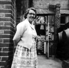 Chris' Aunt Winifred Kempton, with Ann Bowman in the background,at 8 Ennis Road, around 1958