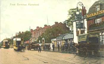 Tram Terminus, High                           Street. c.1910. Photo: Greenwich Heritage                           Centre